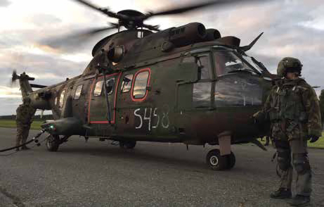 Royal Netherlands Air Force Puma Helicopter
